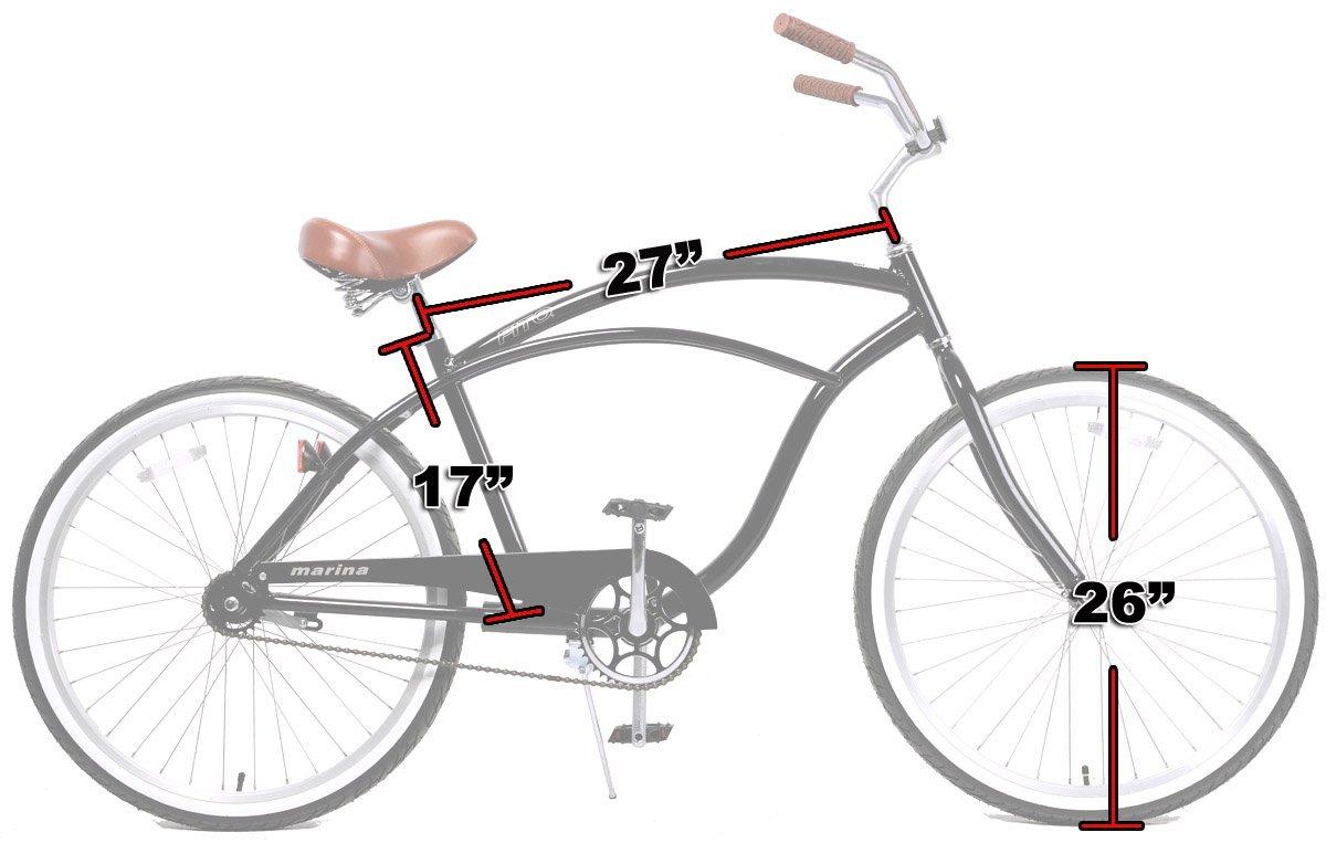 Fito Marina Alloy 1-speed Matte black Aluminum Light Weight Beach Cruiser Bike